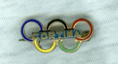 A RARE 1956 VII OLYMPIC WINTER GAMES in CORTINA D'AMPEZZ0 ITALY PIN