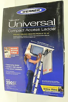 Werner AA10 Compact Access Ladder 250 Lbs Capacity New