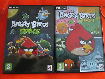 Jeu Pc / Angry Birds Space Et Angry Birds Seasons / Ce3