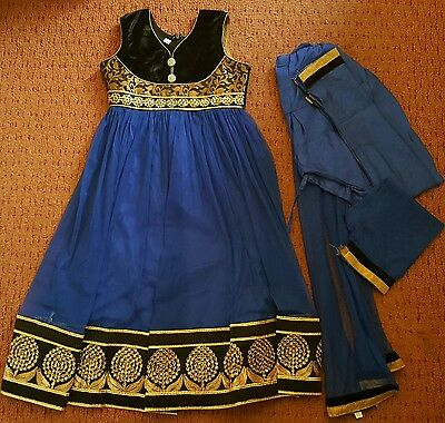 Girls asian dress frock churidar size 24