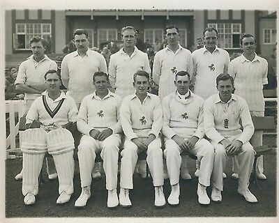 Kent County Cricket Club 1950 Photograph, Press Team Photo