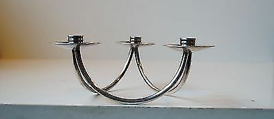 1950s Danish mid century modern silver candle holder by Berg Forssell Aubock era