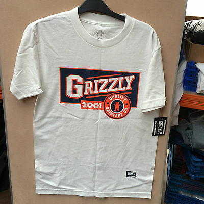 Grizzly grit tape white t shirt 327