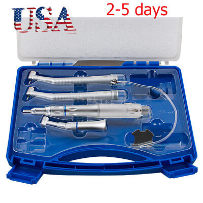 FIT NSK Style Dental Low & High Speed Handpiece Kit Push Button 2 Hole &box 【US】