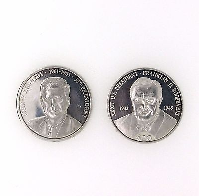 President Of United States Of America Silver Coin John F Kennedy Collection
