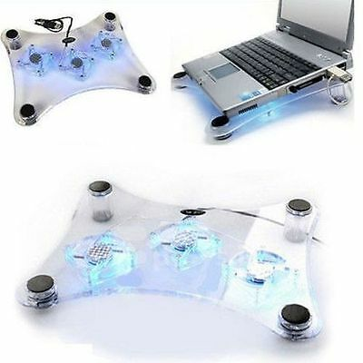 Fws Supporto Dissipatore Cool Pad Notebook 3 Ventole Usb Bas