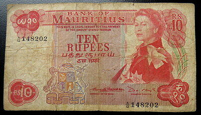 Mauritius 10 Rupees Banknote