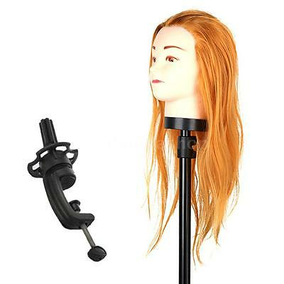Hairdressing Training Head Practice Model Mannequin Golden Hair with Clamp Y0E7