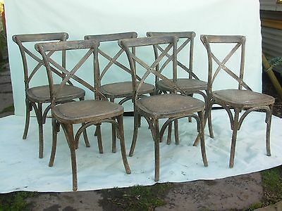 set of 6 Rustic French Style Dining Chairs