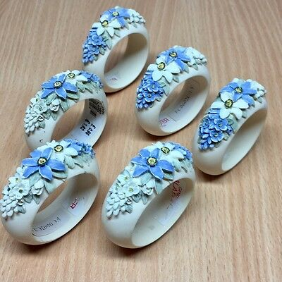 Set of 6 Ceramic Napkin Rings - Lovely Condition