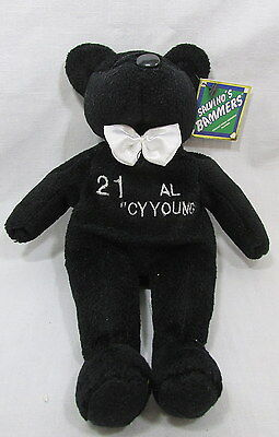 Clemens #21 Plush Bear AL Cy Young Black Salvinos Bammers 9 inch Tag Stuffed -