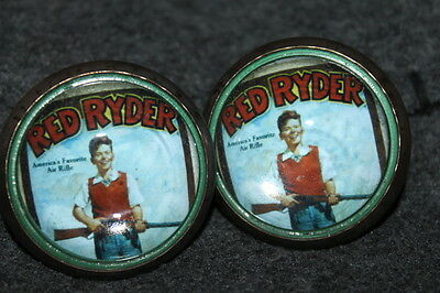 Red Ryder Rifle Kid - Horse Bridle Rosettes