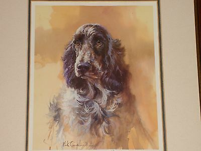 MICK CAWSTON: Cocker Spaniel Limited Edition print Signed Framed Glazed 1996