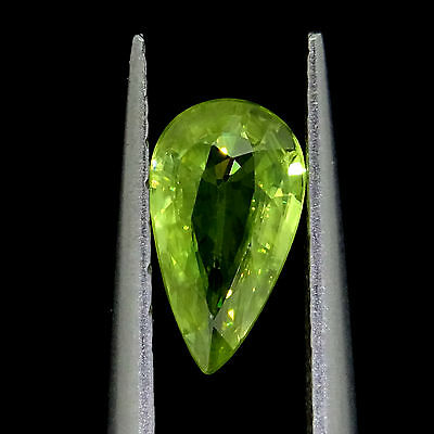 Loose Natural Sphene  0.56ct yellowish green pear cut Loose gemstones