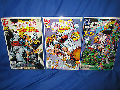 STARS and STRIPE #0 1 2 Lot VF+ To VF/NM 1st Appearance of Star Girl Geoff Johns