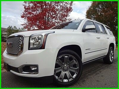 2015 GMC Yukon ONE OWNER CLEAN CARFAX WE FINANCE TRADES WELCOME 6.2L V8 4X4 SUNROOF DVD TOUCHSCREEN NAV BOSE SOUND BACKUP CAM HEATED LEATHER