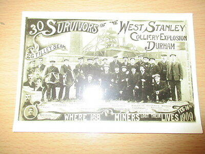 West Stanley Colliery Explosion 1909  Durham - Real photograph postcard