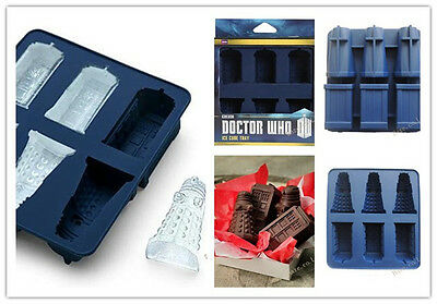 Doctor Who Ice Cube Tray Dalek Silicone Ice Cube Baking Candy Mold