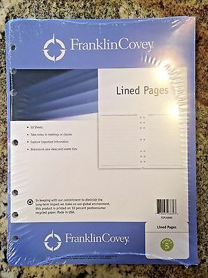 Franklin Covey Monarch Planner Refill, Lined Pages - 50 sheets, 8.5x11""