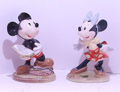 Rare Beswick Mickey Mouse & Minnie Mouse Gold backstamp