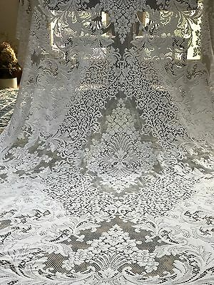 Antique Large Quaker Lace Tablecloth