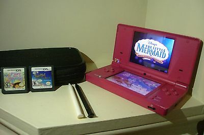 Pink DSi For Sale With 3 Games Exellent Condition