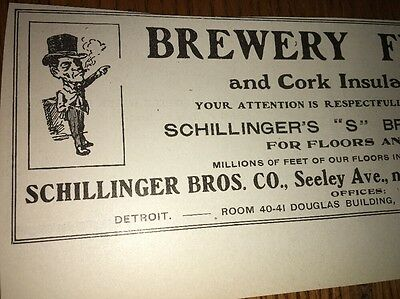 Schillinger Bros Brewery Floors Pavement 1907 Beer Ad Chicago