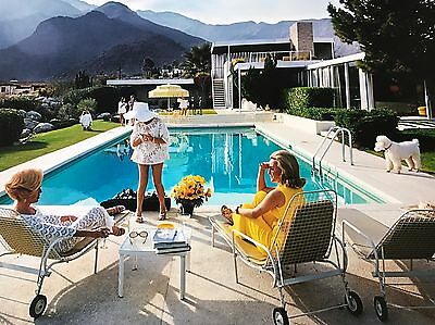 'Kaufmann House' Slim Aarons 1970 Original C-type Print HUGE 1.5x1 m certified