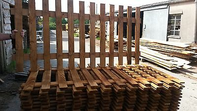 Clearance Flat top picket fence panel 6ft x3ft