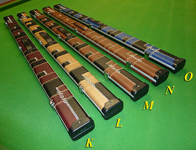 3/4 Halo Snooker Cue case by Peradon - Slim Aluminium with patchwork designs