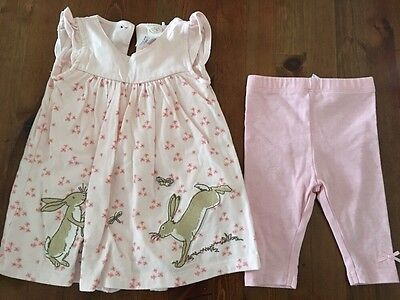 Baby Girls Upto 3 Month Outfit Dress & Leggings