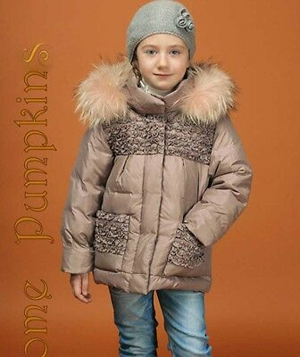 SOME PUMPKINS  Winter Down Jacket For 6 Y, 122 Cm Girl Racoon