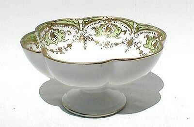 Antique Hand Painted Nippon Moriage Footed Compote