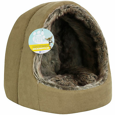 Me & My Small Brown Igloo Pet Bed For Hamster/kitten/rabbit/ferret/rat/guineapig
