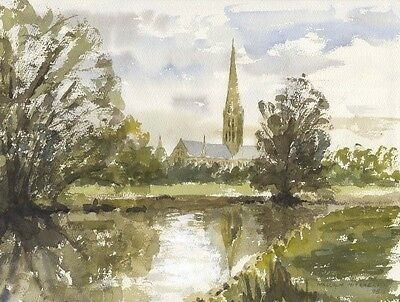 Malcolm Mitchell - Salisbury Cathedral, 1995 Watercolour