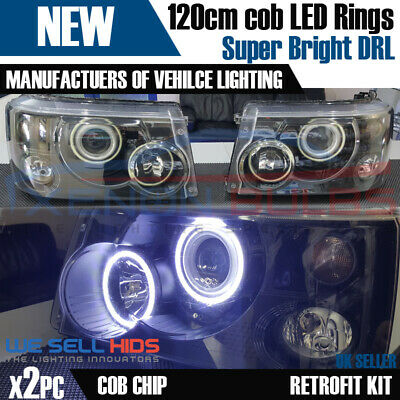 2 X Bmw Angel Eyes After Market Rings 120Mm Cob Led Light Xenon White Bright