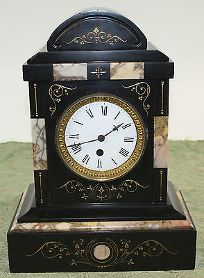 Table Clock. Carved Marble. France. 19Th Century.