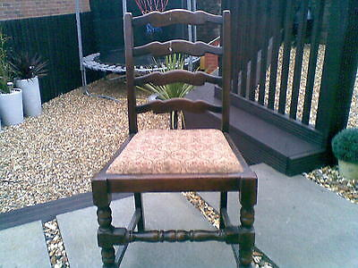 vintage ladder back chair x1 (ideal shabby chic, french grey)