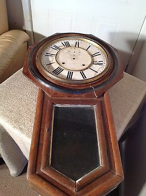 Antique Ansoia Regulator A Clock Case 99P Start No Reserve