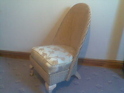 vintage lloyd loom chair,bedroom, hall, chair,ideal shabby chic or project.