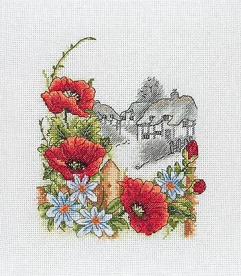 Anchor - Counted Cross Stitch Kit - Summer Days - Poppies - PCE559