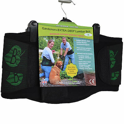 LUMBAR Back Support Belt - NON SWEAT- XTRA-WIDE - Ideal for GARDENING & LIFTING