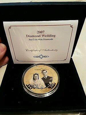 Cook island 2007 rare proof coin. 24 carat gold plated with real diamonds.