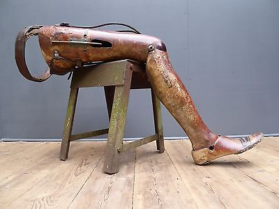 Stunning Early Antique Vintage Prosthetic Leg