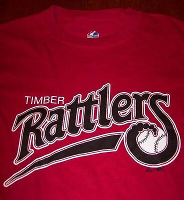 WISCONSIN TIMBER RATTLERS BASEBALL T-Shirt SMALL NEW Milwaukee Brewers