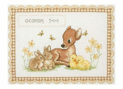 Anchor - Counted Cross Stitch Kit - Birth Record - Baby Animal - ACS23