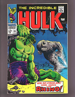 The Incredible Hulk #104 - 1968  Fine / Very Fine Condition - Comic Book Issue