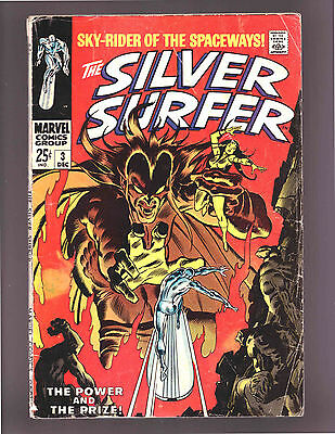 The Silver Surfer #3 - 1968  Fine- Condition Comic Book Issue 1St App. Mephisto