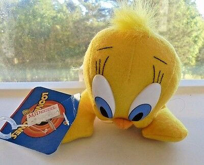 TWEETY BIRD NWTS 1997 Warner Brothers Collectible Stuffed Plush Toy + FREE Gift