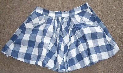 autograph girls skirt blue/white check 13 years